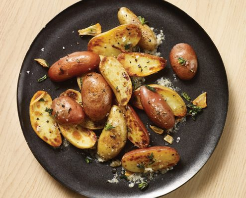 garlic parm roasted potatoes